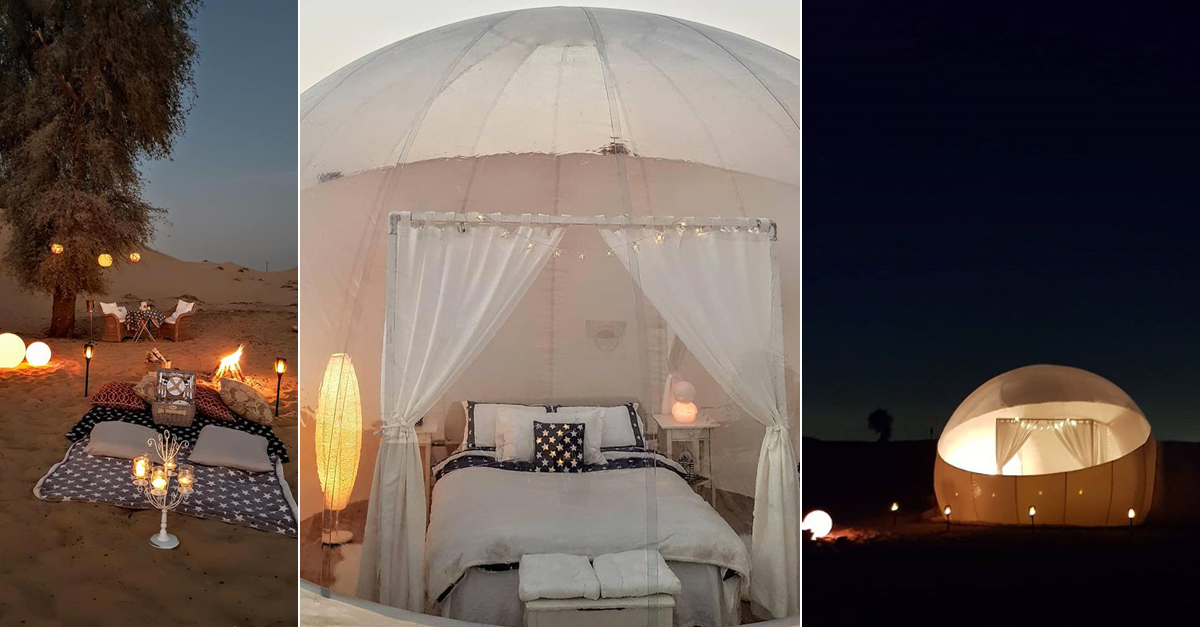 You Can Now Sleep In A Star Gazing Bubble In The Dubai Desert