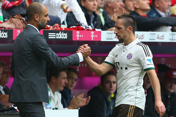 Ribery and Pep Guardiola