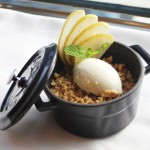 Pear fruit crumble at MPW
