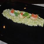 Scallop risotto at Certo