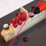 White chocolate cheesecake at Armani Deli