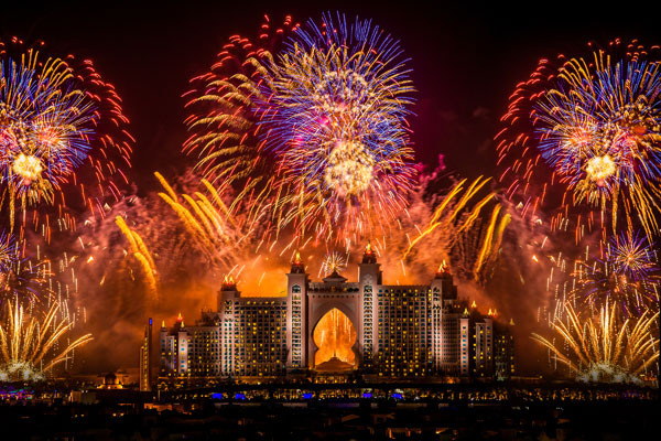 Fireworks at Atlantis, The Palm
