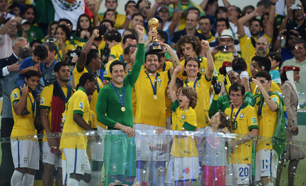 Brazil won the Confederations Cup in 2013