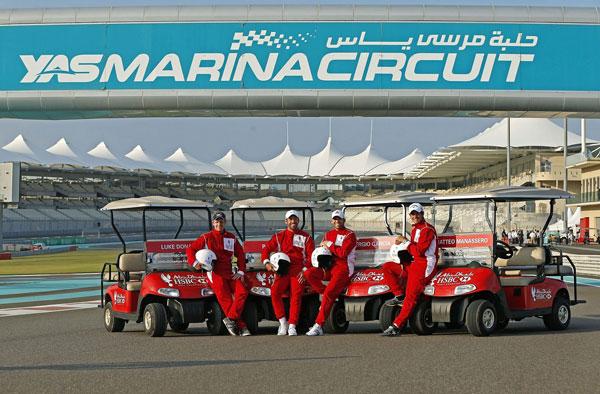 Luke Donald, Sergio Garcia, Matteo Manassero and Paul Casey raced around Yas Marina