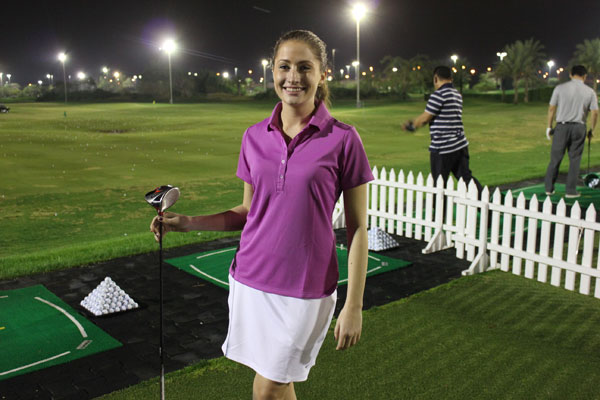 Golf lesson at Emirates Golf Club, with Nike Golf