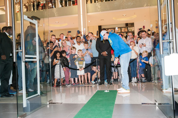 Rory McIlroy opens the new Nike Golf store at Dubai Mall