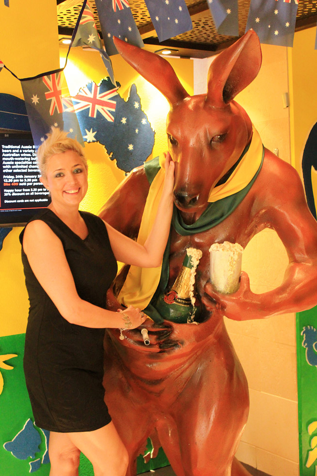Natasha van der Berg celebrates Australia Day at Yalumba