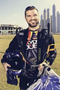 Skydive Dubai instructor Brad Merritt