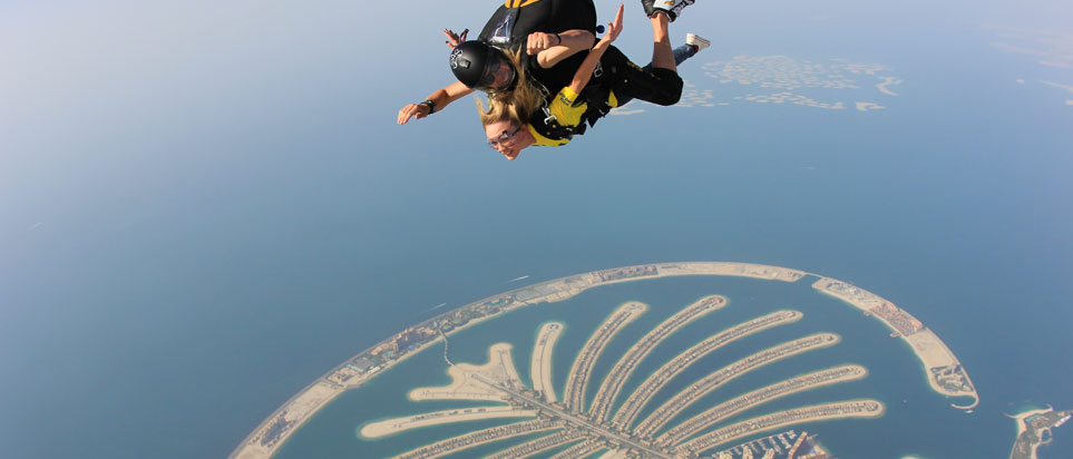 Sarah Garden threw herself out of a plane with Skydive Dubai