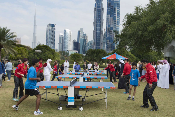 Table tennis in Dubai parks