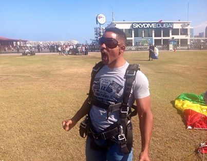 Will Smith skydiving in Dubai