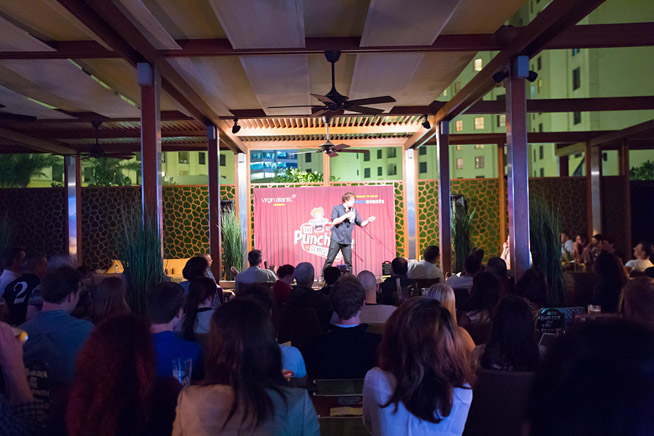 Girders Garden played host to the Punchline Comedy Club