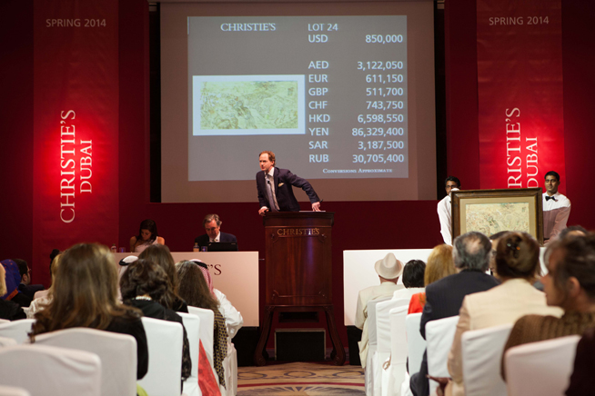 Christie's auction in Dubai