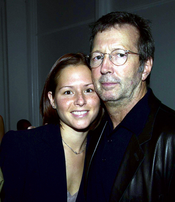 Eric Clapton with second wife Melia McEnery