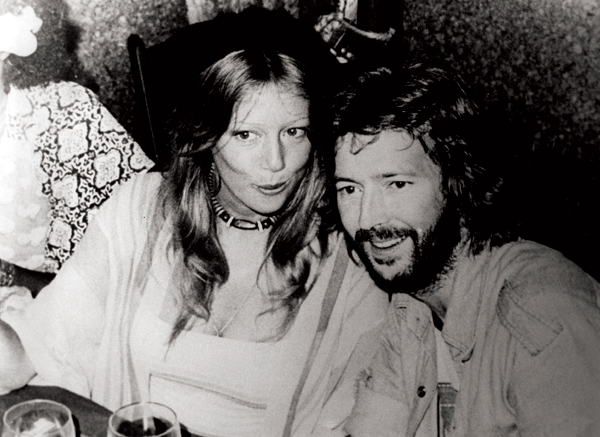 Eric Clapton with first wife Pattie Boyd