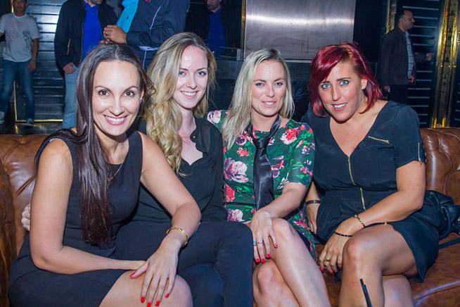 Elsa Roost, Katie Harvey, Vix Machin and Acacia Stichter at the launch of Back to School at Societe