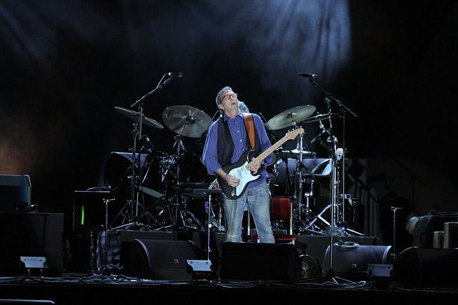 Eric Clapton performing in Dubai