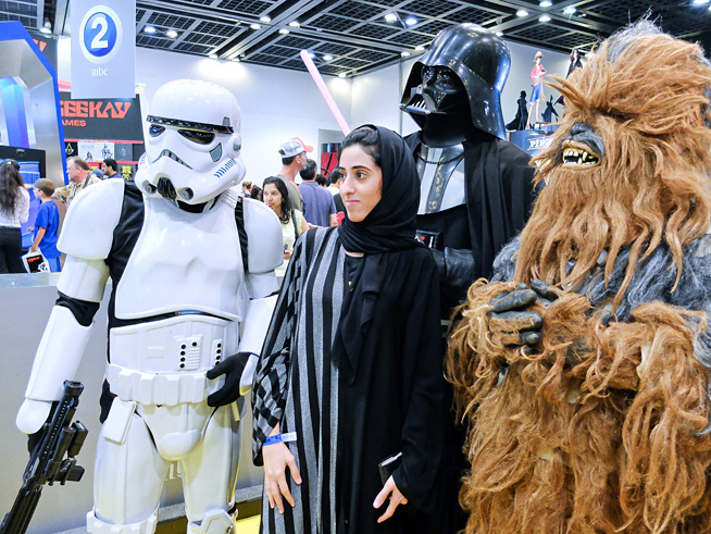 Comic Con cosplay - Star Wars was a common theme