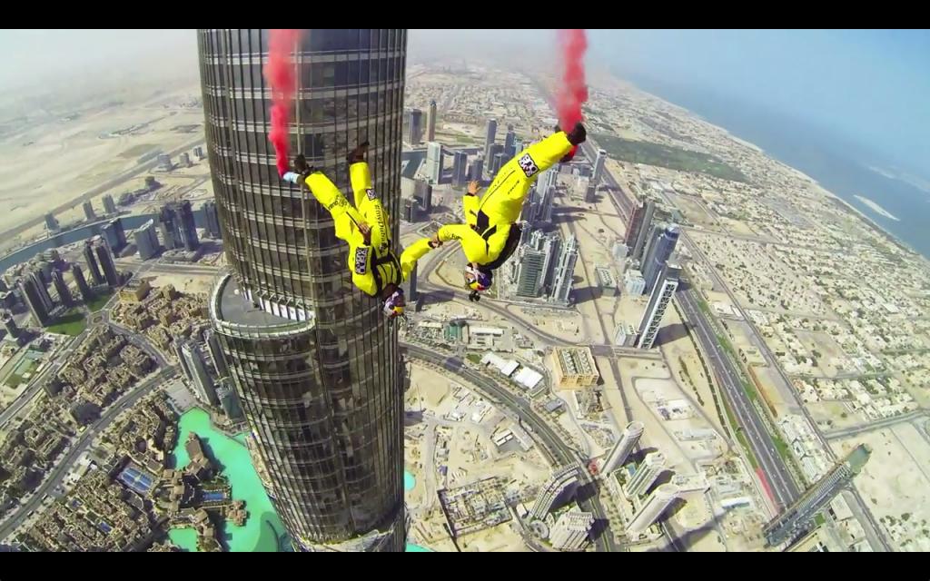 Skydive Dubai basejump Burj Khalifa