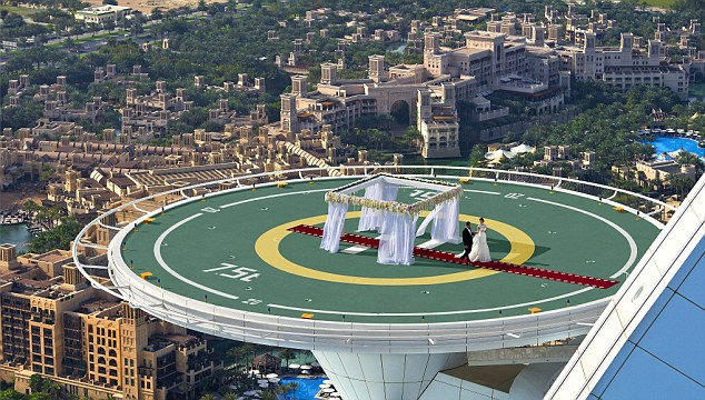 Burj Al Arab helipad wedding