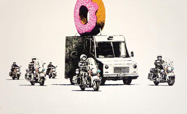 Art in Dubai: Banksy, Donut Police