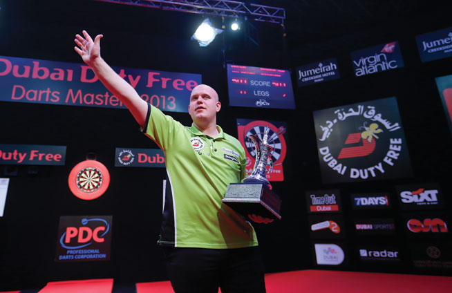 Michael van Gerwen in Dubai