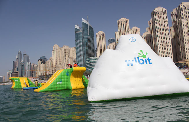 Wibit, inflatable sports park at JBR