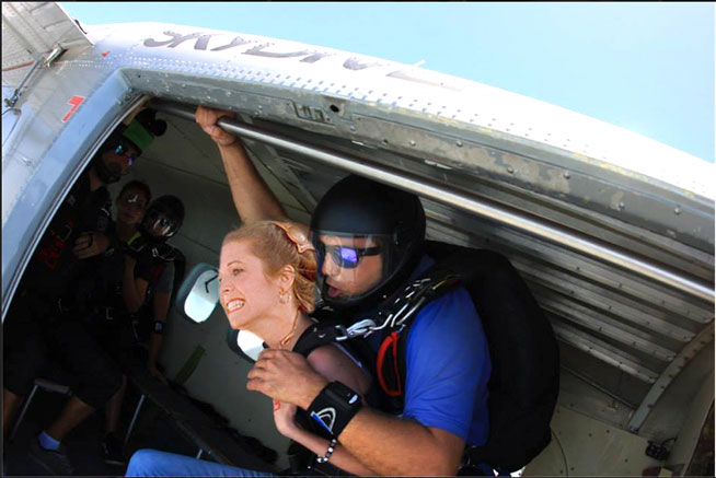 Princess Leah at Sky Dive Dubai