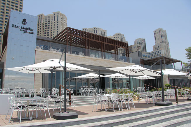 Real Madrid cafe, The Beach, JBR
