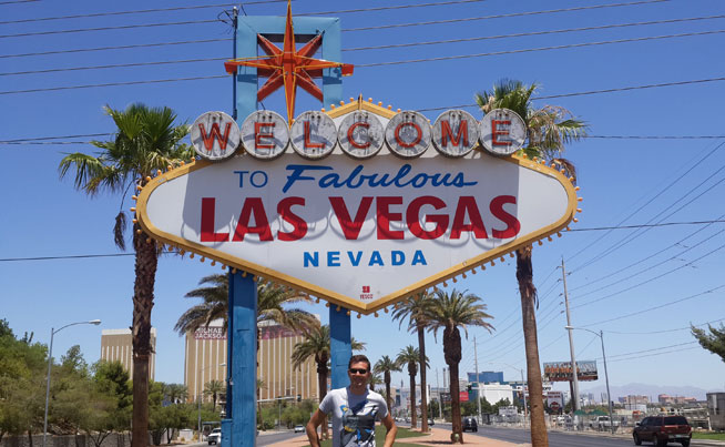 The Welcome to Fabulous Las Vegas sign - America's best landmarks