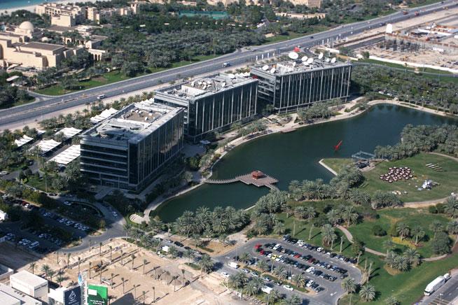 Dubai Media City lake