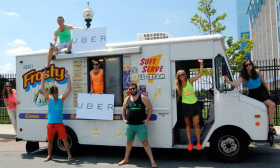 Uber ice-cream delivery is a global initiative