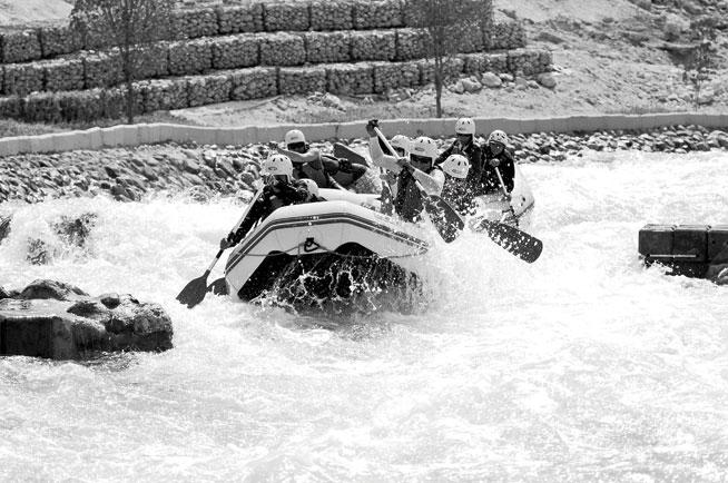 White water rafting at Wadi Adventure