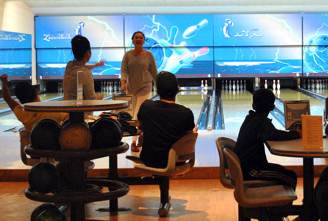 Al Nasr Leisureland bowling alley in Dubai