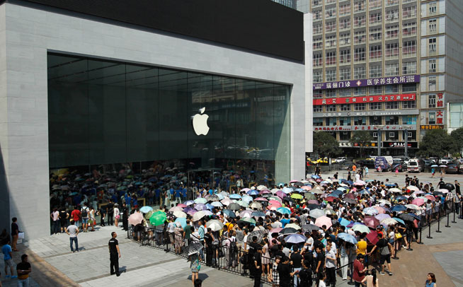 Apple Store to open in Dubai - report (pictured: Chongqing, China)