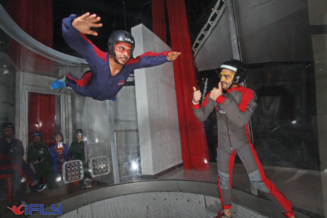 Indoor skydive instructor at iFlight