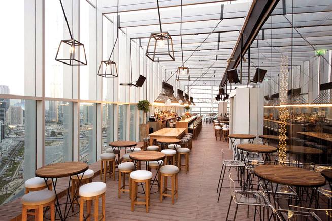 Iris, The Oberoi, indoor terrace