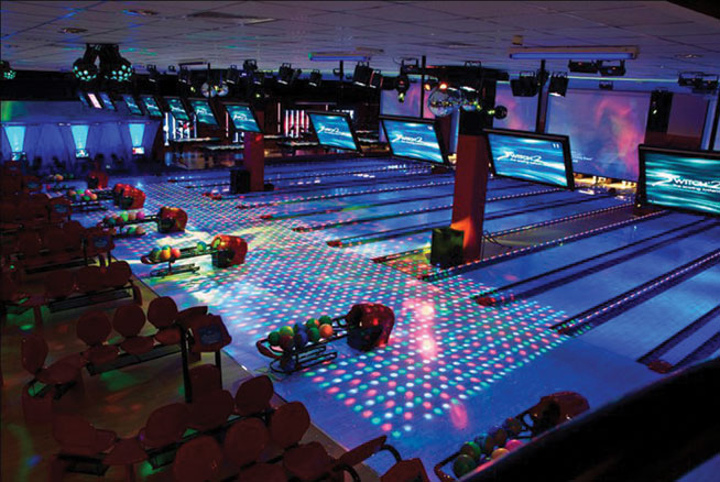 Switch bowling alley in Dubai