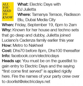Underground nightlife in Dubai - Electric Days