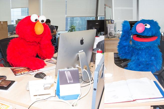 Elmo and Grover in Dubai
