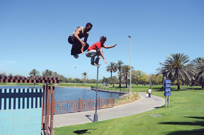 Offbeat sports in Dubai - Parkour