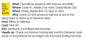Underground nightlife in Dubai - Plus Minus Sessions