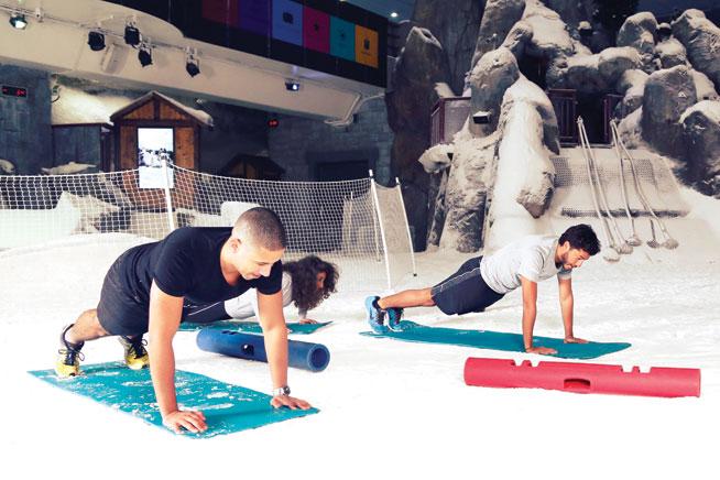 Offbeat sports in Dubai - Snowrobics