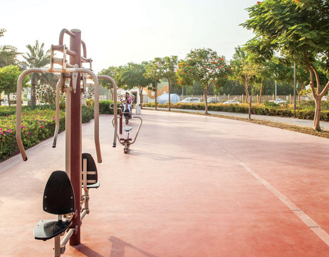 Best running tracks in Dubai - Al Barsha Park