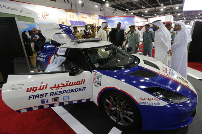 Dubai Ambulance unveil Lotus Evora