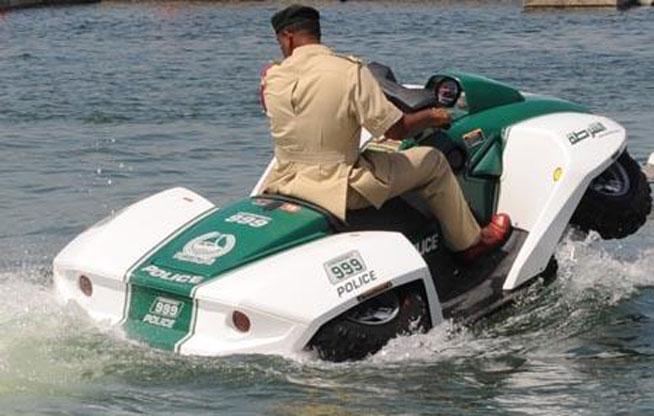Dubai Police vehicles - jet-ski/quad bike