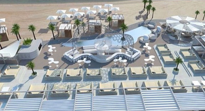 Eden Beach Club, at Rixos The Palm - a Kevin Pietersen venture - day view