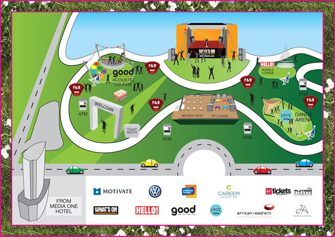 Party In The Park site map