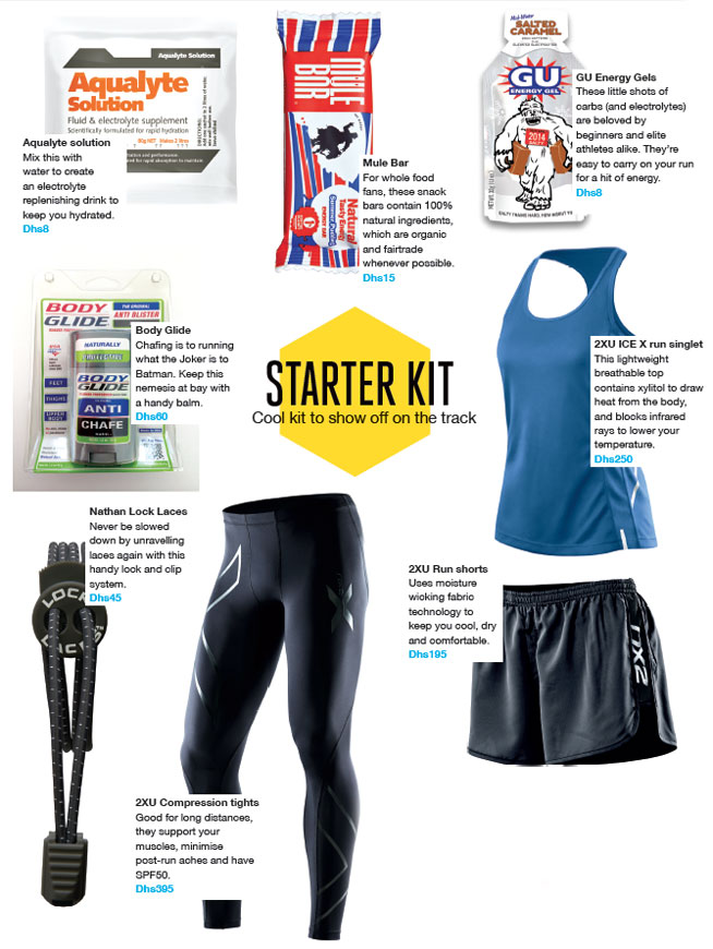 Dubai Marathon Training Blog: Running starter kit