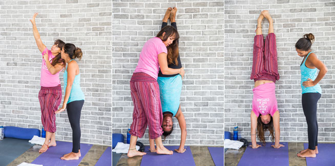 Urban Yoga handstand workshop
